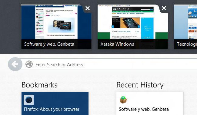 Firefox Modern UI