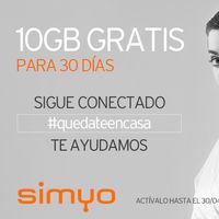 Simyo regala 10 GB válidos durante 30 días para hacer más llevaderos los estragos provocados por el coronavirus