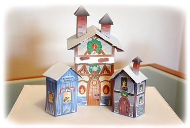 La casa de Papá Noel para imprimir y montar