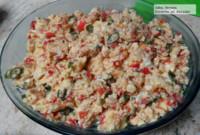Huevos revueltos a la mexicana tersos y deliciosos. Receta