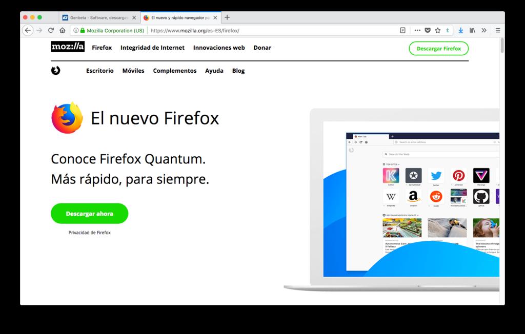 El Nuevo Y Rapido Navegador Para Mac Pc Y Linux Firefox 2017 12 18 18 33 01