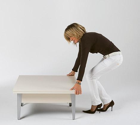 Easy mesa de centro convertible en una de comedor - Mesa centro convertible en mesa comedor ...