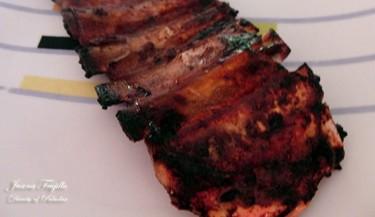 Costillar de cerdo con salsa de arándanos. Receta