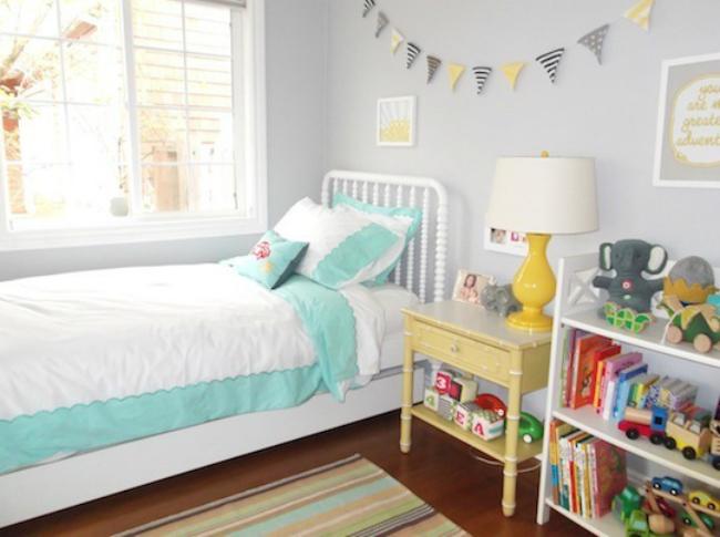 Un dormitorio lleno de luz para niños