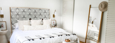 Antes y después: un dormitorio que se vuelve fresco, luminoso y con un toque boho
