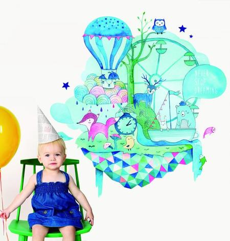 The Wonderwalls, los vinilos más bonitos para la habitación infantil