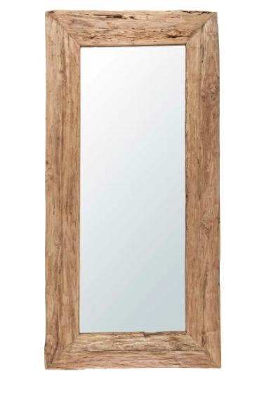 Espejo de teca reciclado 100x200 cm