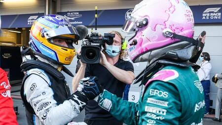 Alonso Vettel Spa F1 2021