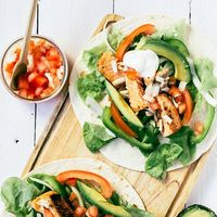 Tacos de salmón marinado: receta