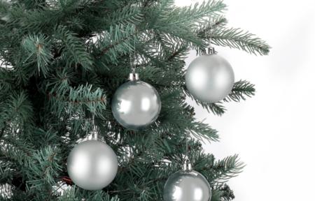 Set 12 Bolas Plateadas Brillo Y Mate Navidad El Corte Ingles