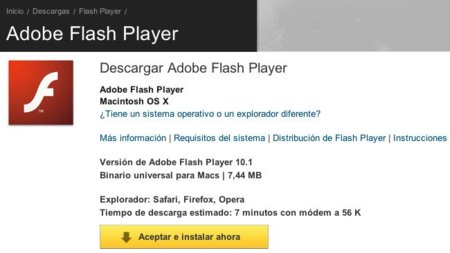 Flash Player 10.1 ya disponible... sin aceleración por hardware en Mac OS X