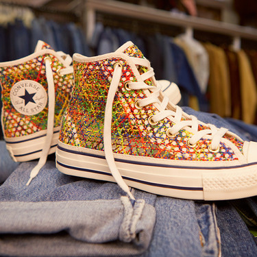 Converse lanza un nuevo modelo de zapatillas en crochet que es perfecto para la primavera