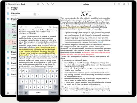 Scrivener aterriza en la App Store de iOS para animar la lucha por la mejor app de escritura