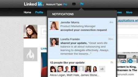 LinkedIn se apunta a la moda de las notificaciones