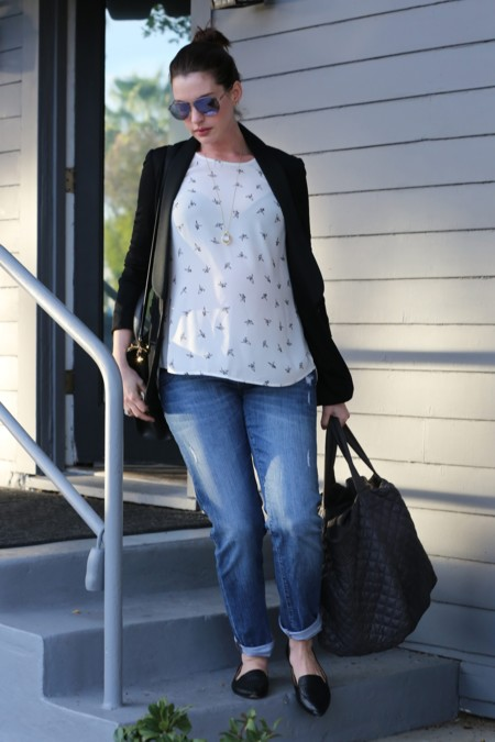 Anne Hathaway Look Premama Jeans