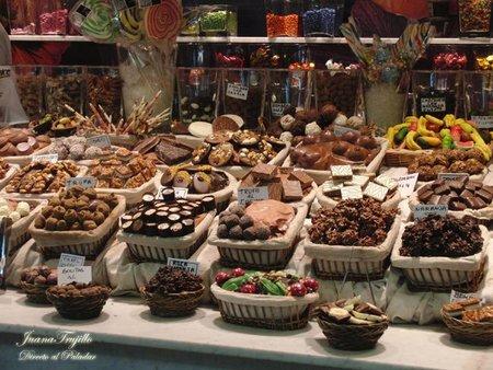 Pues de chocolates en la Boquería