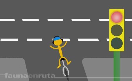 fauna en ruta: ciclistas