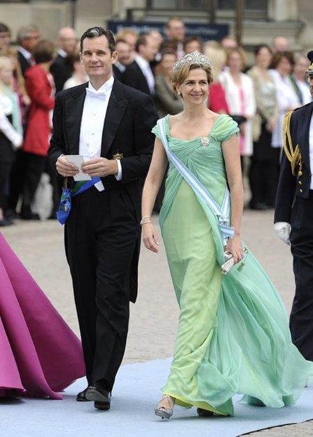 Boda de la Princesa Victoria de Suecia, ceremonia: Infanta Cristina