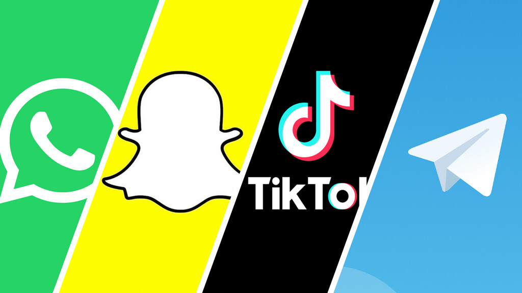Los mexicanos en apps: Telegram tiene un décimo de los usuarios de WhatsApp, TikTok se acerca a Twitter, y Snapchat no muere