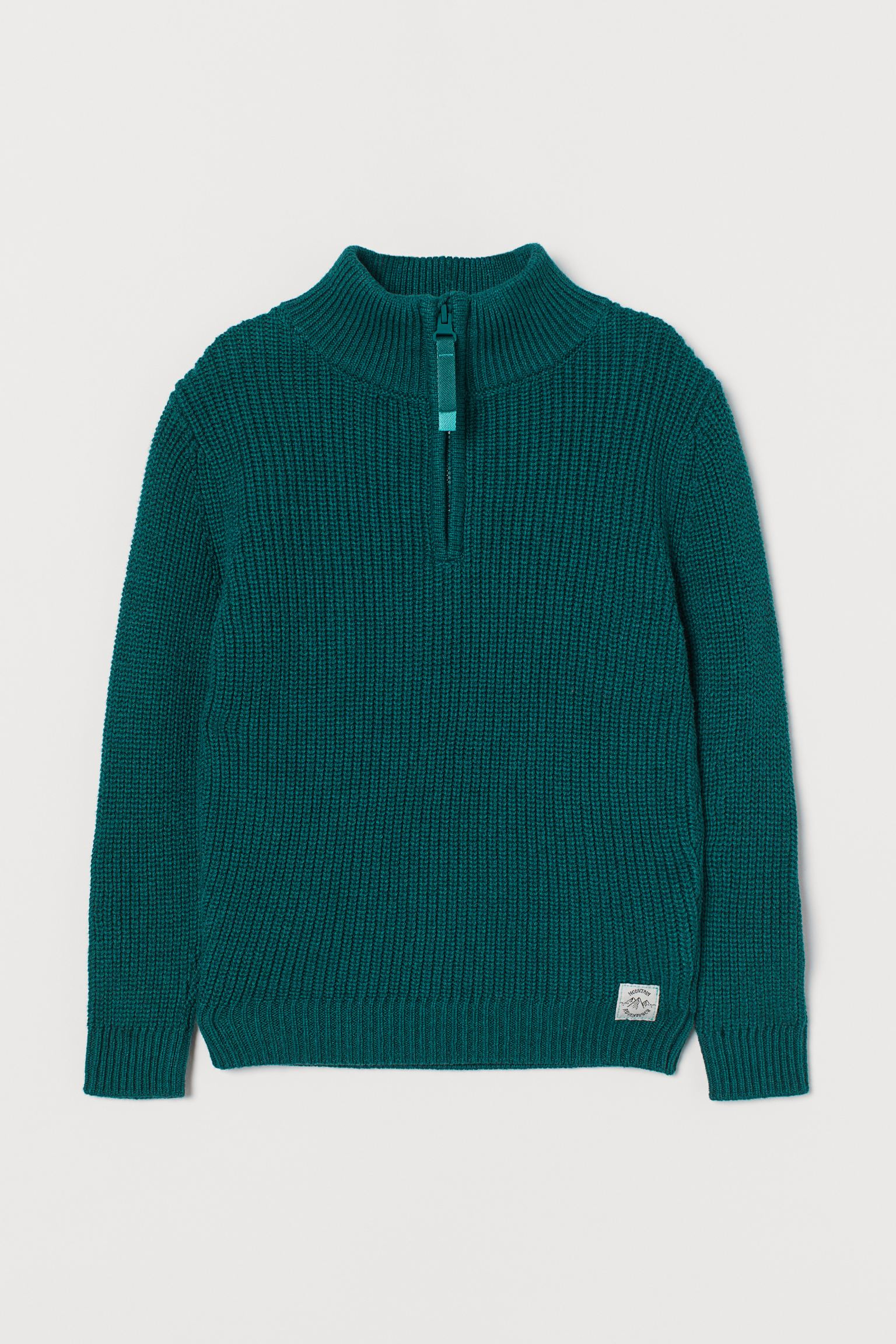 Jersey en canalé de algodón