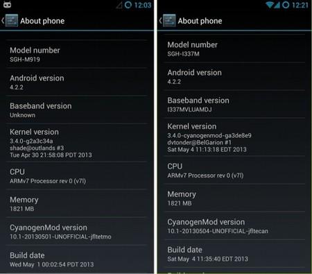 CyanogenMod 10.1 disponible para el Galaxy S4