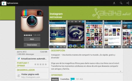 Instagram para Android se actualiza con soporte para tablets y tarjetas SD