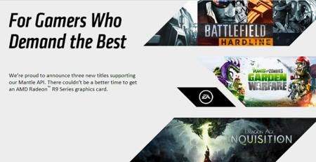 AMD suma tres nuevos títulos de EA que soportarán el API Mantle