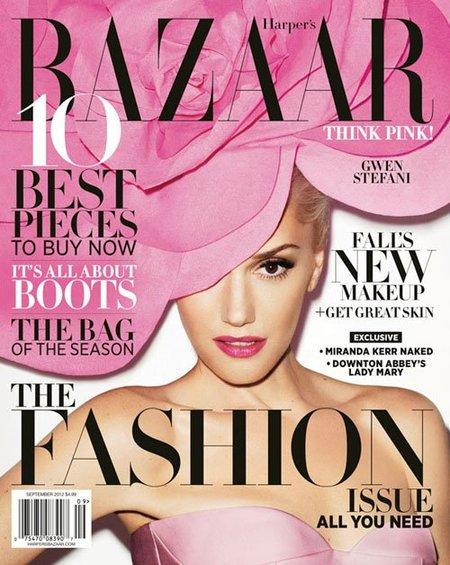 Gwen Stefani se planta el floriponcio en toda la cabeza para Harper's Bazaar
