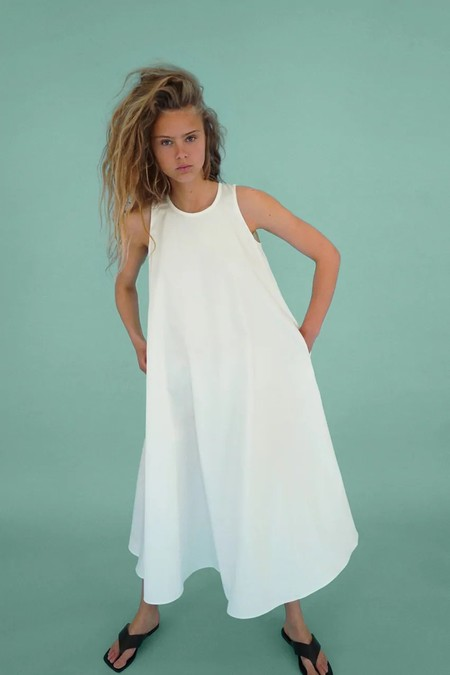 Sara Carbonero Vestido Blanco 4 Zara