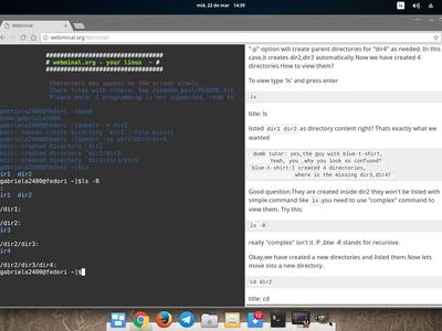 En esta web puedes aprender gratis todo sobre la terminal de Linux y de forma interactiva