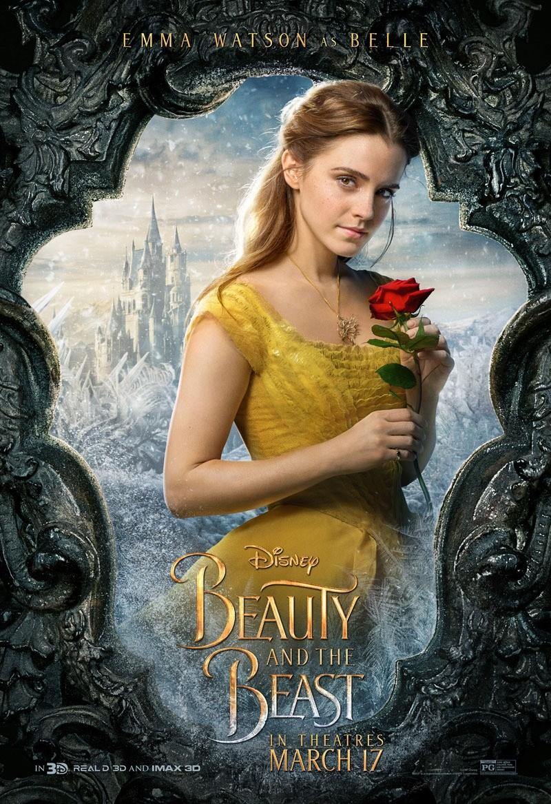 Foto de 'La bella y la bestia', carteles de los protagonistas (3/12)