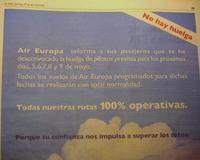 Se desconvoca la huelga de Air Europa pero...
