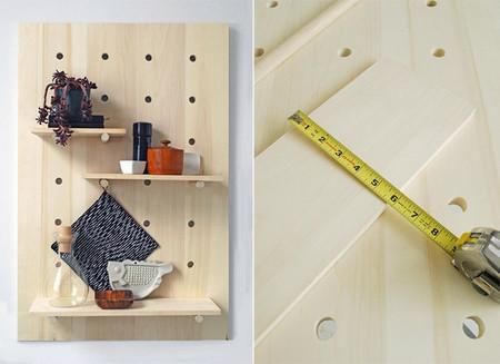 Hazlo tú mismo: una estantería de madera que puedes adaptar a tus necesidades