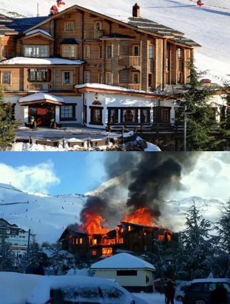 Un incendio arrasa el Hotel El Lodge, un año después de su reapertura