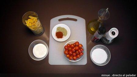 Macarrones con tomates asados - ingredientes