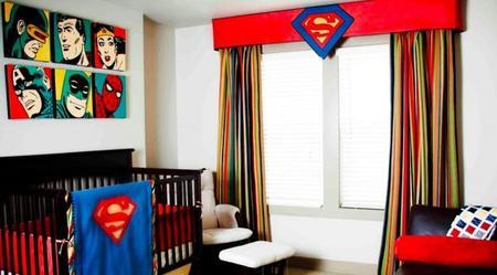 Una habitación de superhéroes