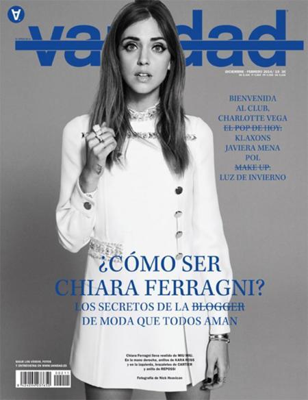 Chiara Ferragni da el salto a la portada de Vanidad, ¿qué será lo próximo?