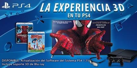 Llega la reproducción de blu-ray 3D con la versión 1.75 del firmware de PS4