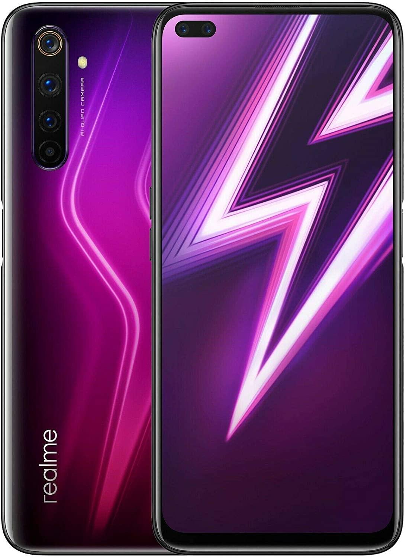"""RealMe 6 Pro 128 GB + 8 GB RMX2063 6.6"""" Dual Sim 4G LTE Octa-core Snapdragon 720G – Quad Camera – Versión Internacional – Sin garantía (sólo GSM, no CDMA), Rojo"""
