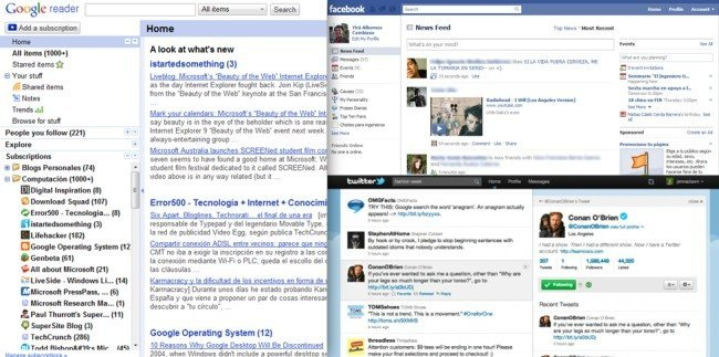 Google Reader vs. Facebook y Twitter