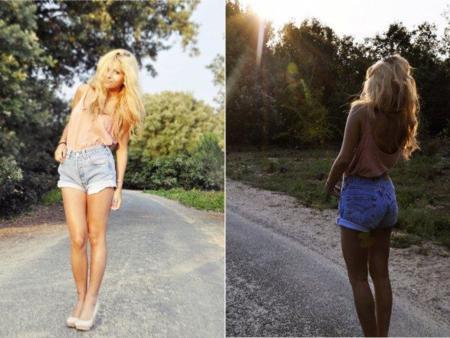 Luna A shorts vaqueros