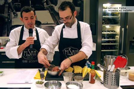Espuma de chorizo y gofre de jamón, las recetas de Ricard Camarena que elevan los ibéricos a la alta gastronomía