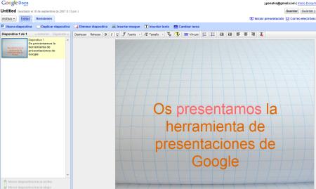 Nuevas funcionalidades en las presentaciones de Google Docs