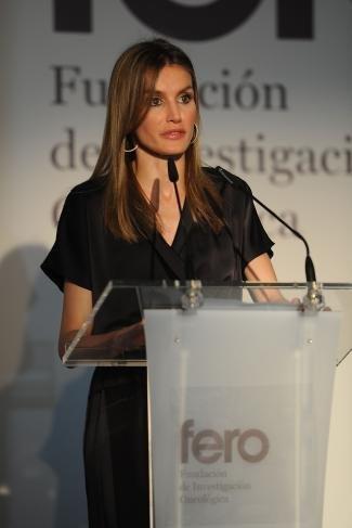 La Princesa Letizia de nuevo con la melena lisa en Barcelona