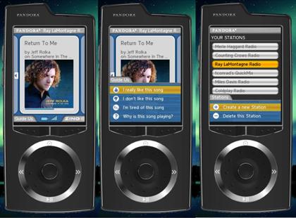 Dispositivo de Pandora para escuchar la radio