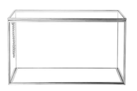 Caja De Cristal Y Metal Plateado 1000 6 12 205791 1