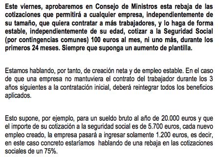 Las cuentas de la lechera de Rajoy con la rebaja de las cotizaciones
