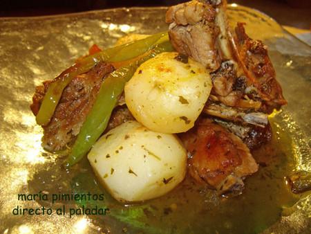 Receta de costillas con patatas al horno