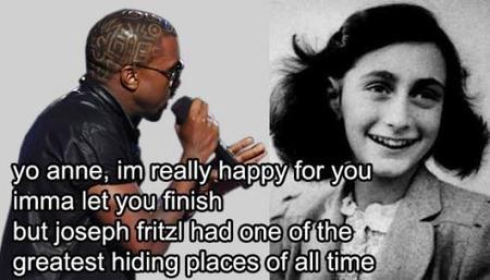 Kanye interrumpe a Anna Frank
