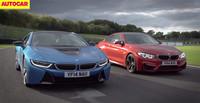 Autocar enfrenta el BMW i8 al BMW M4 Coupé...en circuito